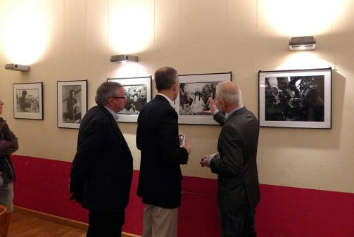 Mayor of Weimar Stefan Wolf, U.S. Consul General Scott Riedmann, Curator Clemens Gubernath
