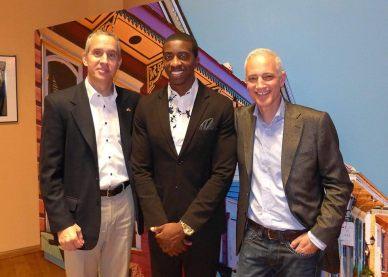 U.S. Consul General Scott Riedmann, Kyle Roussel, Curator Clemens Gubernath